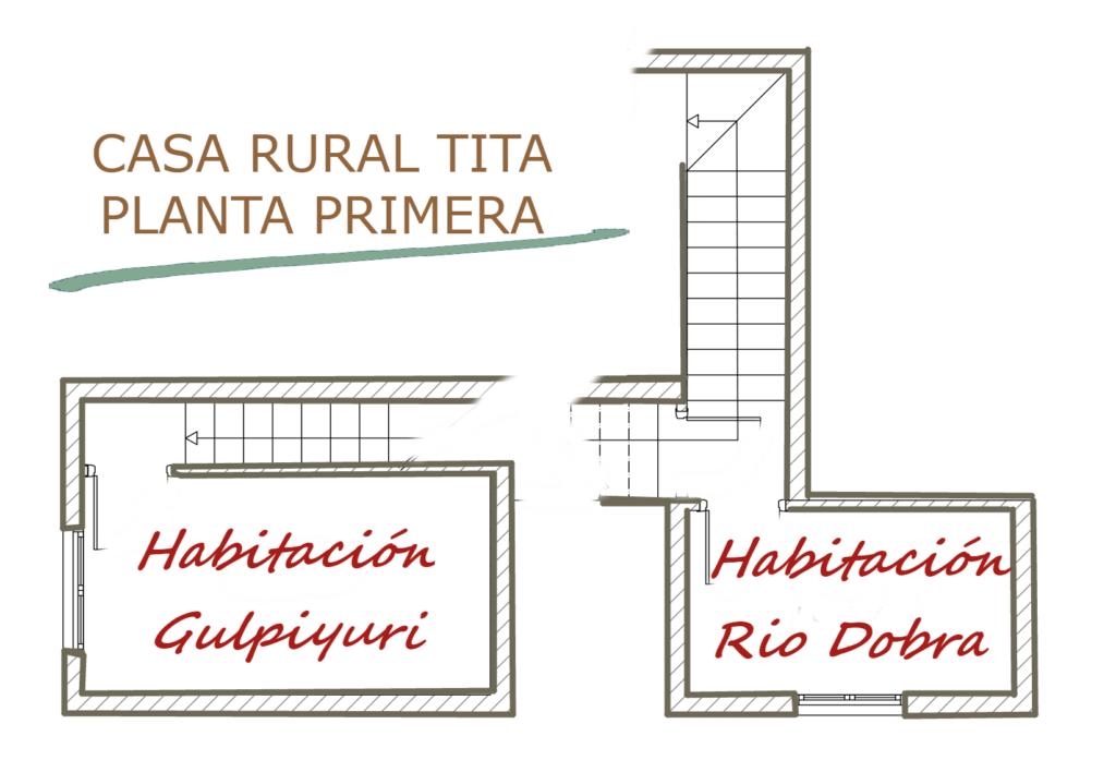 Plano de la primera planta de la Casa Rural Tita.